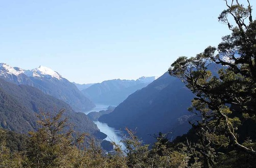 Doubtful Sound from the Wilmot Pass