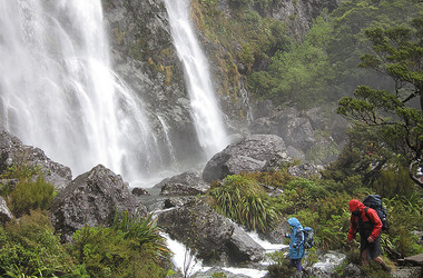 Earland Falls, Routeburn Track. Courtesy of Destination Fiordland
